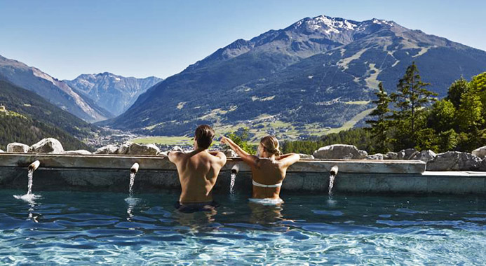 термальные источники в Италии Доломитовы Альпы