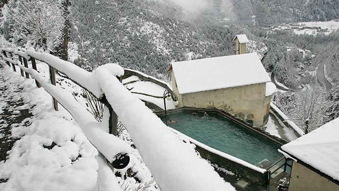 термальные заповежники в горах Италии Старые бани Бормио