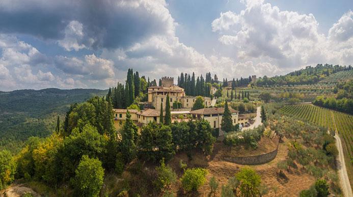 красивые замки в Италии Верраццано Тоскана