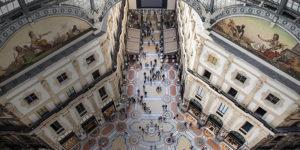 Внутри галереи Виктора Эммануила в Милане.