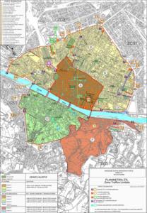 Карта зон города Флоренция.
