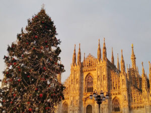 Кафедральный собор Милана в канун Рождества.