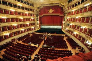 Внутри театра Ла Скала в Милане