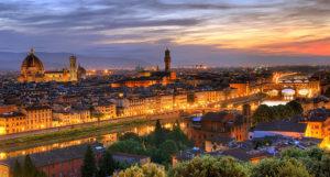 Панорама вечерней Флоренции